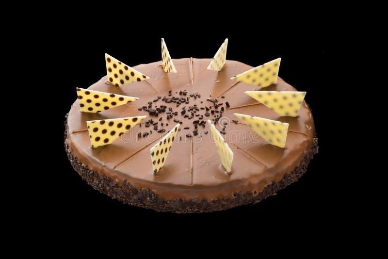 巧克力蛋糕 美妙地装饰 免版税库存照片