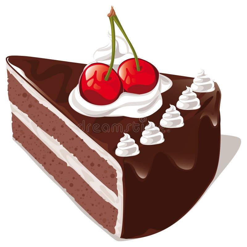 巧克力蛋糕 库存例证