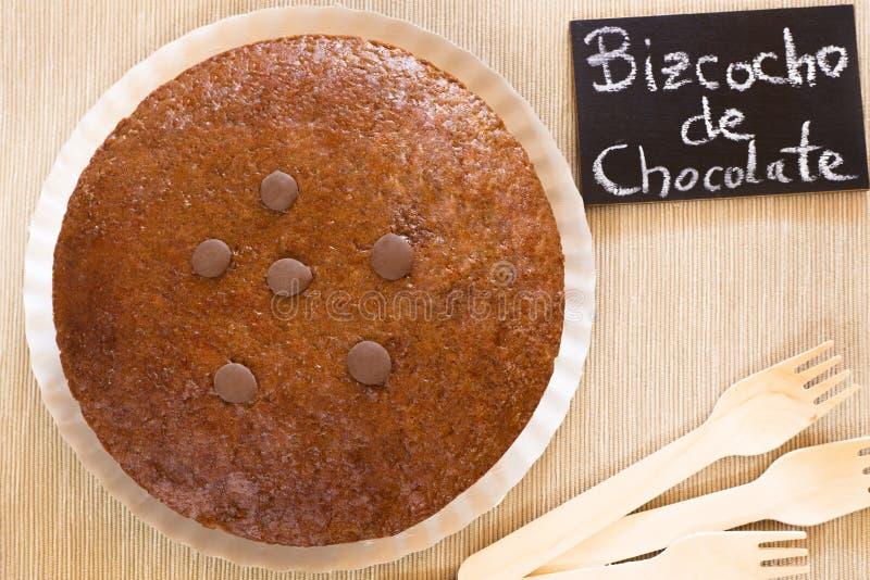 巧克力被烘烤的蛋糕 图库摄影