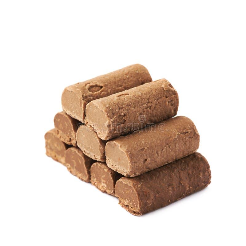 巧克力被隔绝的果仁糖糖果 免版税图库摄影