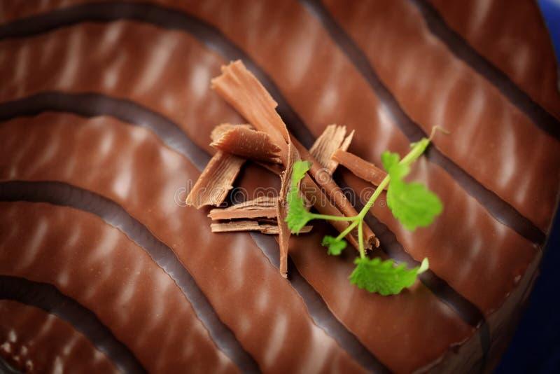 巧克力釉 免版税图库摄影