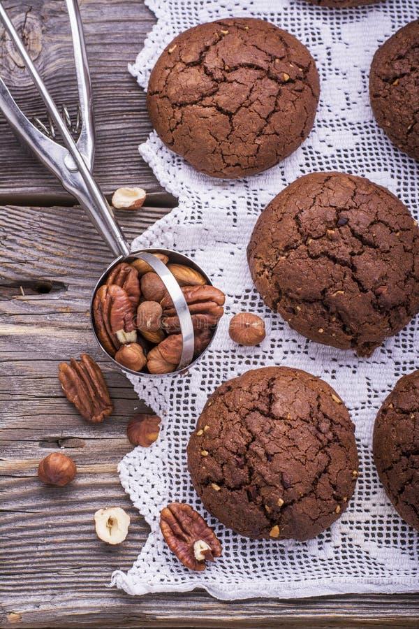 巧克力风味曲奇饼 免版税库存图片