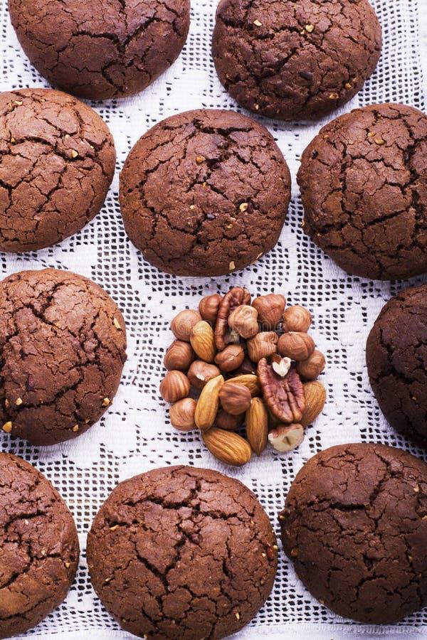 巧克力风味曲奇饼 库存图片