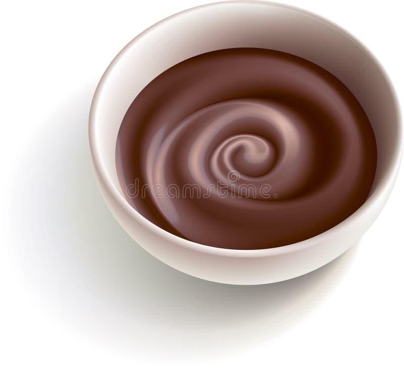 巧克力黑暗溶解 库存例证