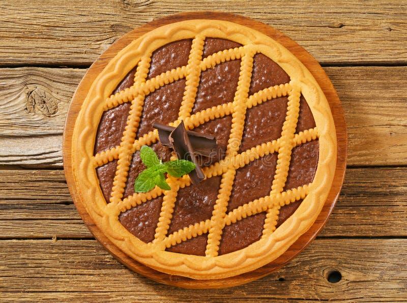 巧克力crostata 库存图片