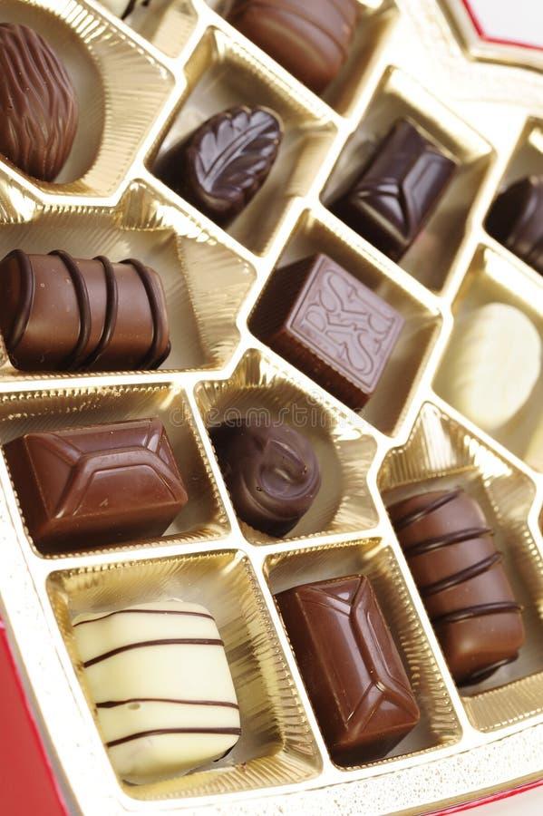 巧克力s华伦泰 库存图片