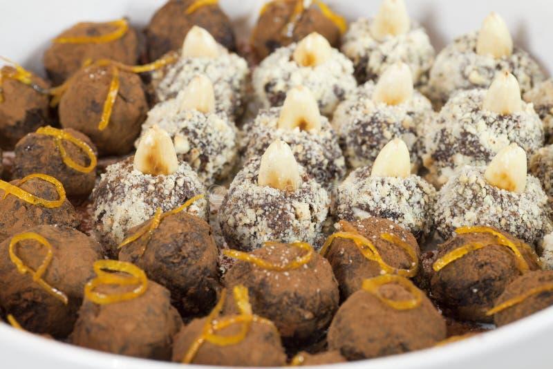 巧克力truffels 免版税库存照片