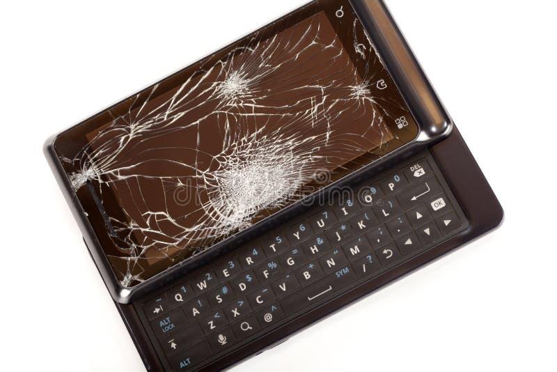 巧妙损坏的电话 免版税库存图片