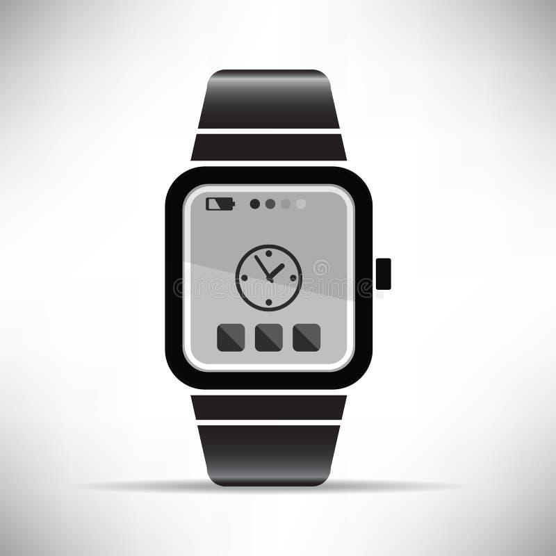 巧妙的手表便携的技术传染媒介例证 向量例证