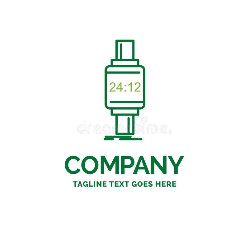 巧妙的手表,smartwatch,手表,苹果,机器人平的企业日志 向量例证