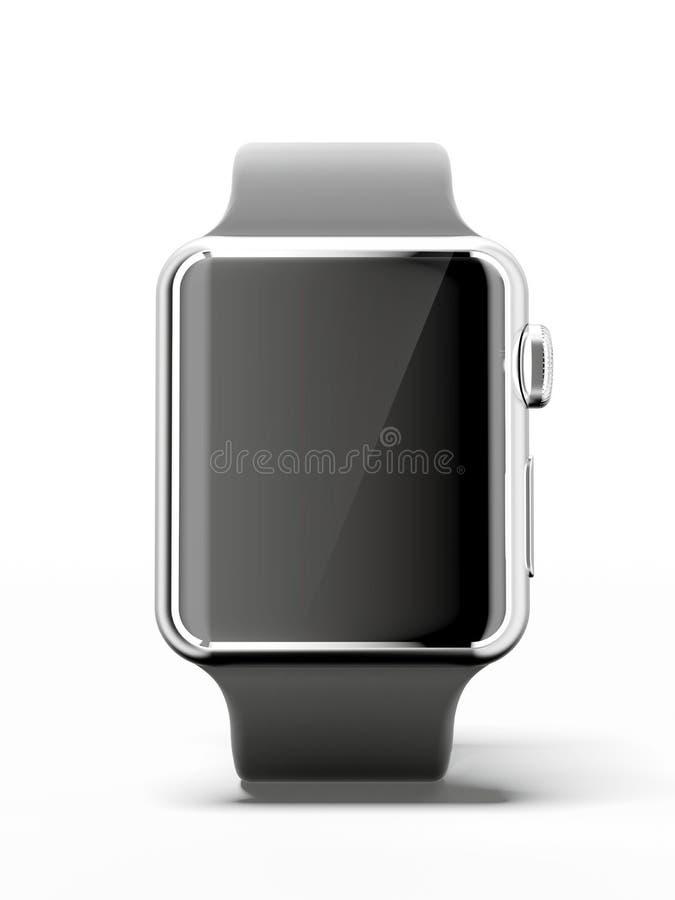 黑巧妙的手表 向量例证