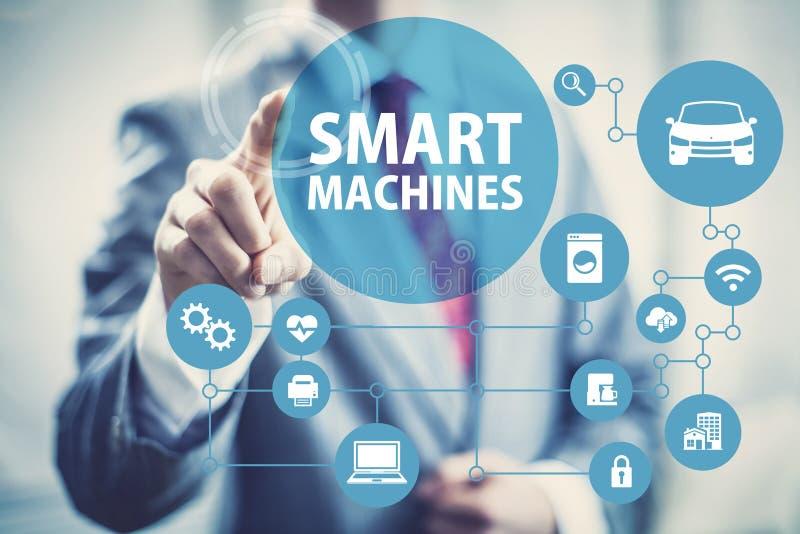 巧妙的机器和智能网络 向量例证