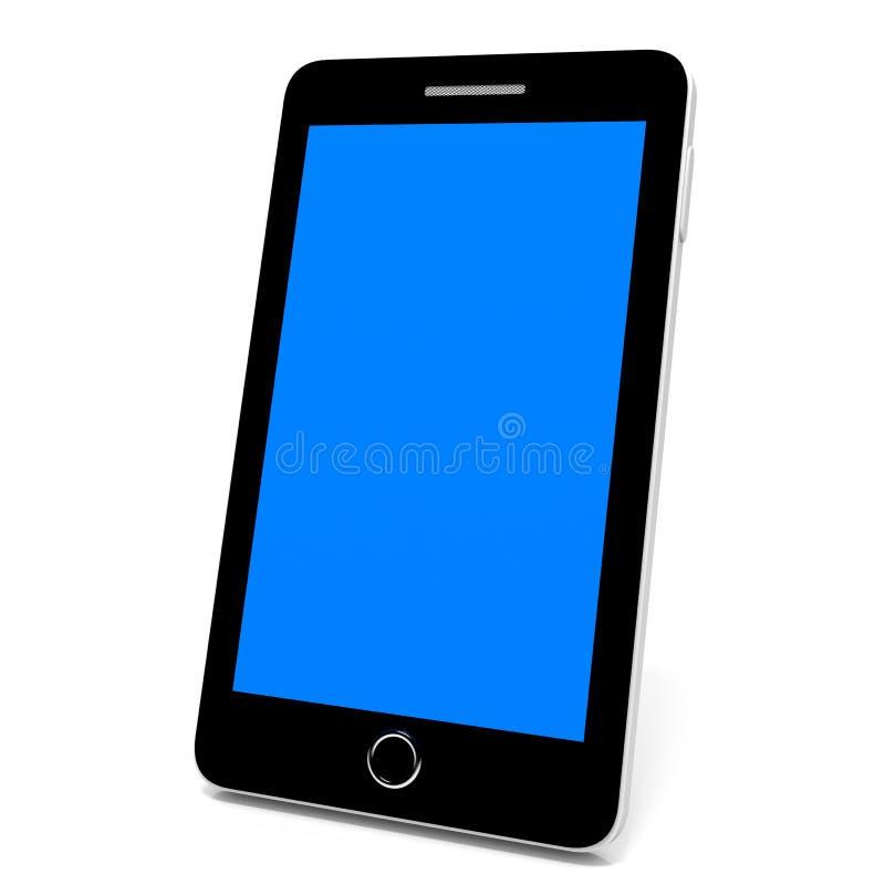 巧妙蓝色电话的屏幕 皇族释放例证