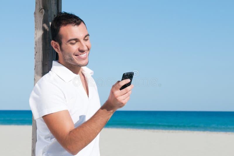 巧妙通信的电话 免版税库存照片