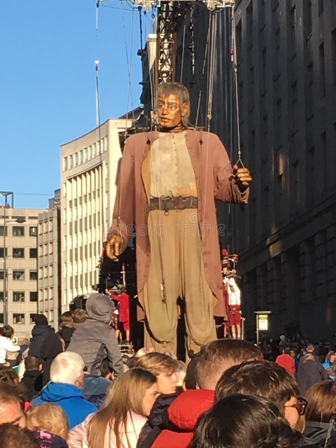 巨人在利物浦 免版税库存照片