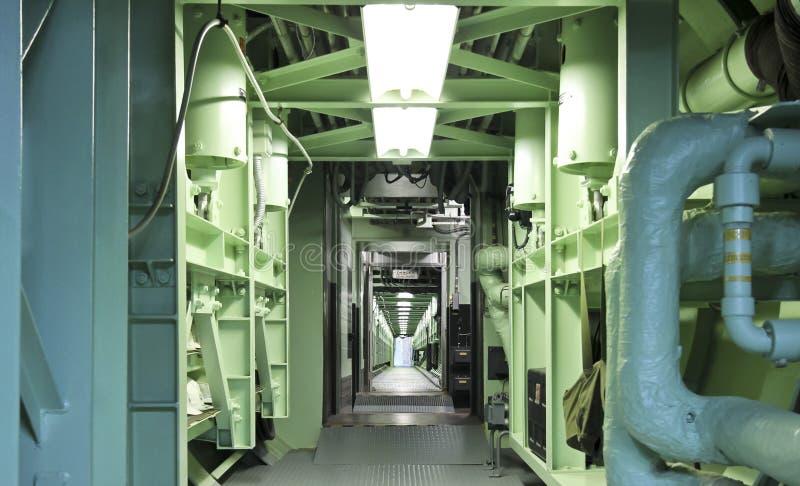 巨人长期导弹博物馆地下空中览绳 免版税图库摄影