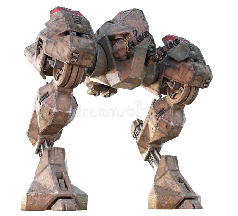 巨人Mecha步行者3D回报 皇族释放例证