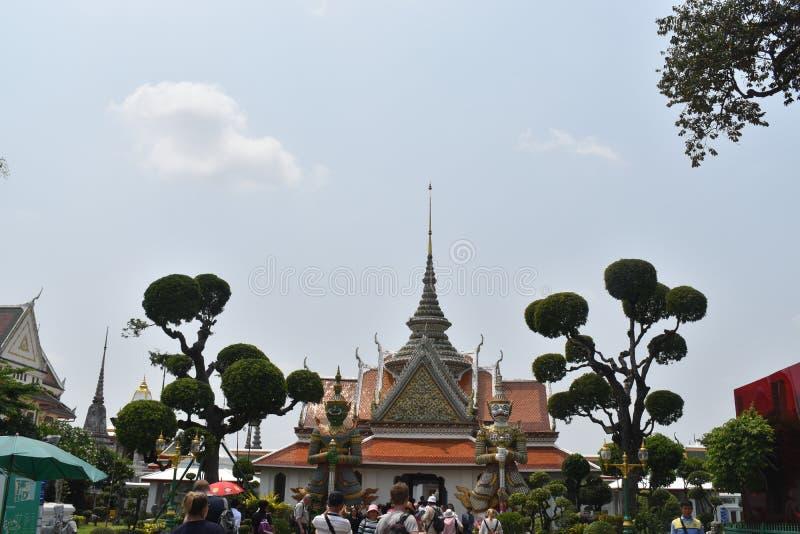 巨人wat arun曼谷泰国,一多数著名寺庙在Thialand 库存图片