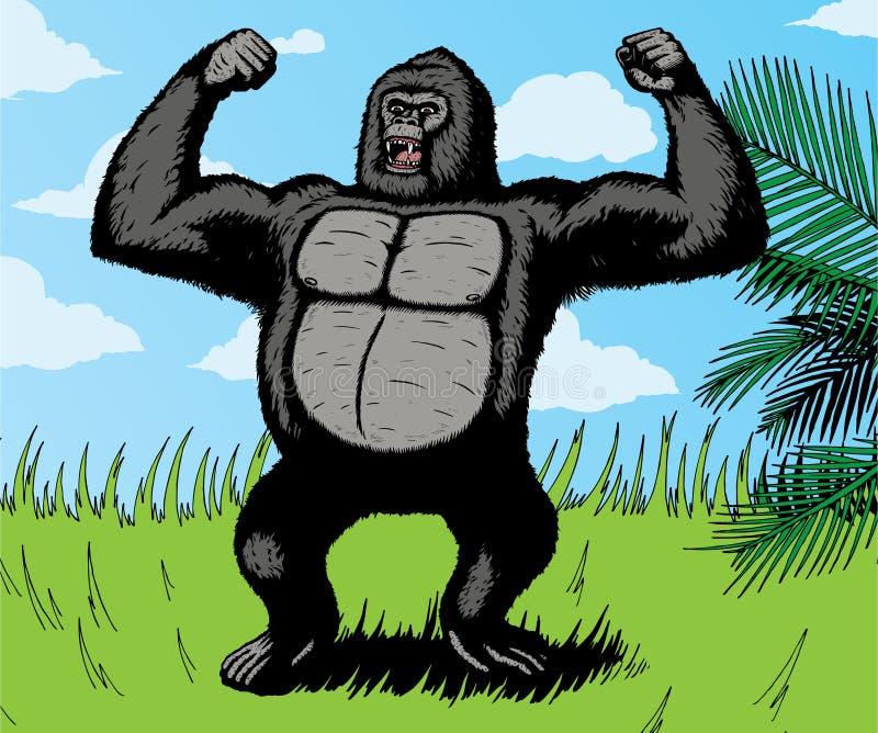 巨型大猩猩 向量例证