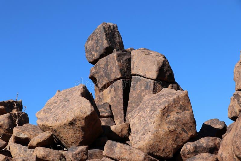 巨型操场-在基特曼斯胡普-纳米比亚的一个异常的岩石风景 库存照片