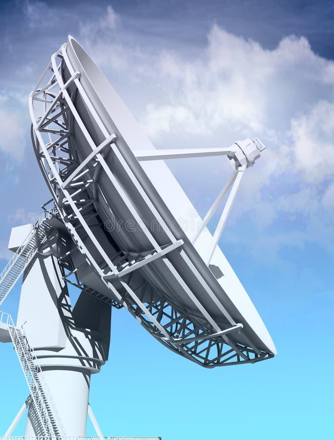 巨型无线电望远镜 皇族释放例证