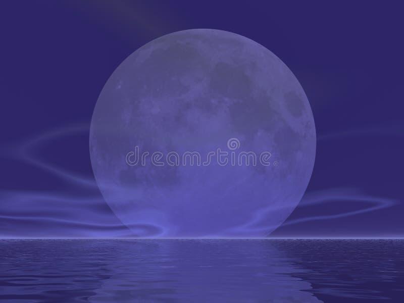 巨型月亮上升 库存例证