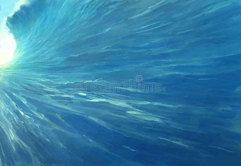 巨型海浪 向量例证