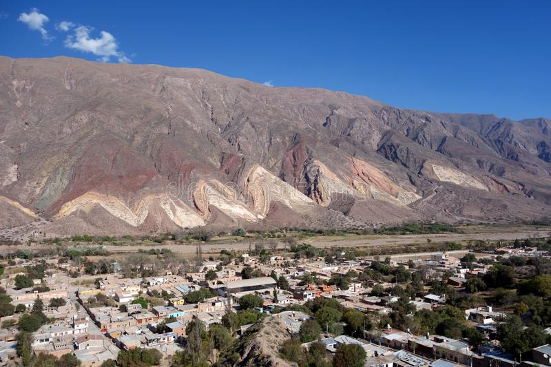 巨型独石画家的调色板/paleta del pintor - maimara,jujuy,阿根廷 免版税库存图片