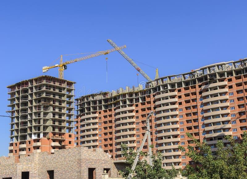 巨型独石砖住宅复合体 免版税库存图片