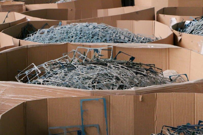 巨型的堆废金属或塑料 图库摄影