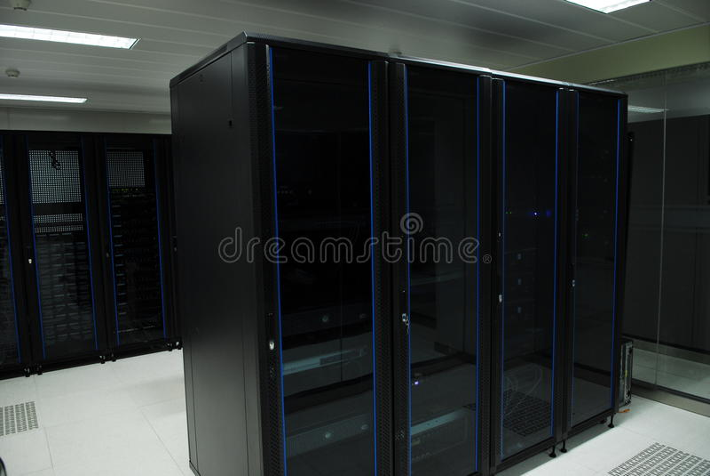 巨型计算机服务器室 库存照片