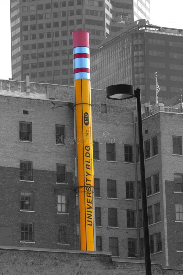 巨型铅笔,丹佛科罗拉多 库存图片