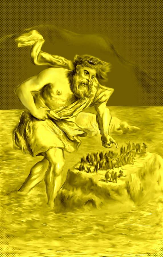 巨型Suttung和矮人 皇族释放例证