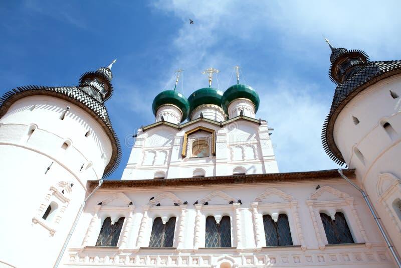 巨大克里姆林宫rostov俄国 免版税库存图片