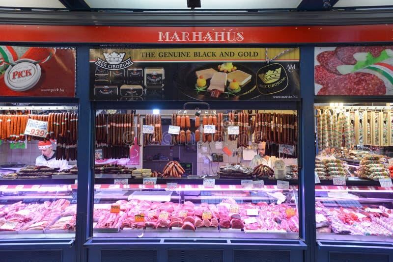 巨大市场霍尔-布达佩斯,匈牙利 库存照片