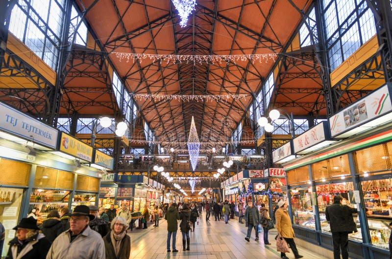 巨大市场霍尔-布达佩斯,匈牙利 库存图片