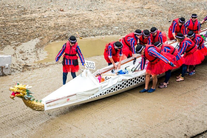 巨大河种族 免版税库存照片
