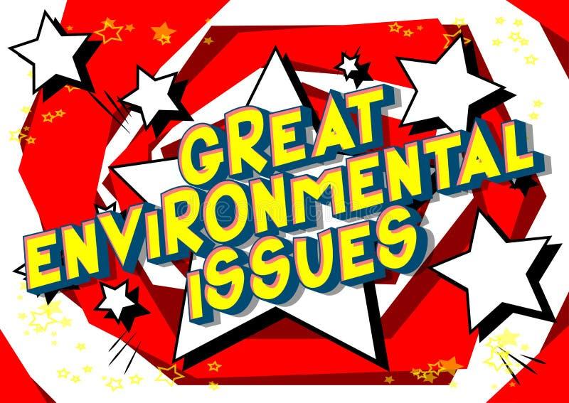 巨大环境问题-漫画样式词 向量例证
