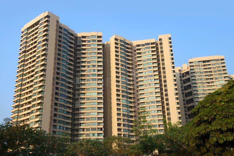 巨大的公寓住宅区 库存图片