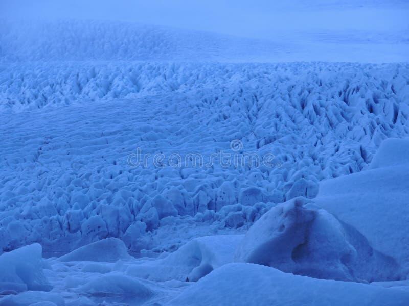 巨大的冰川在冰岛 免版税图库摄影