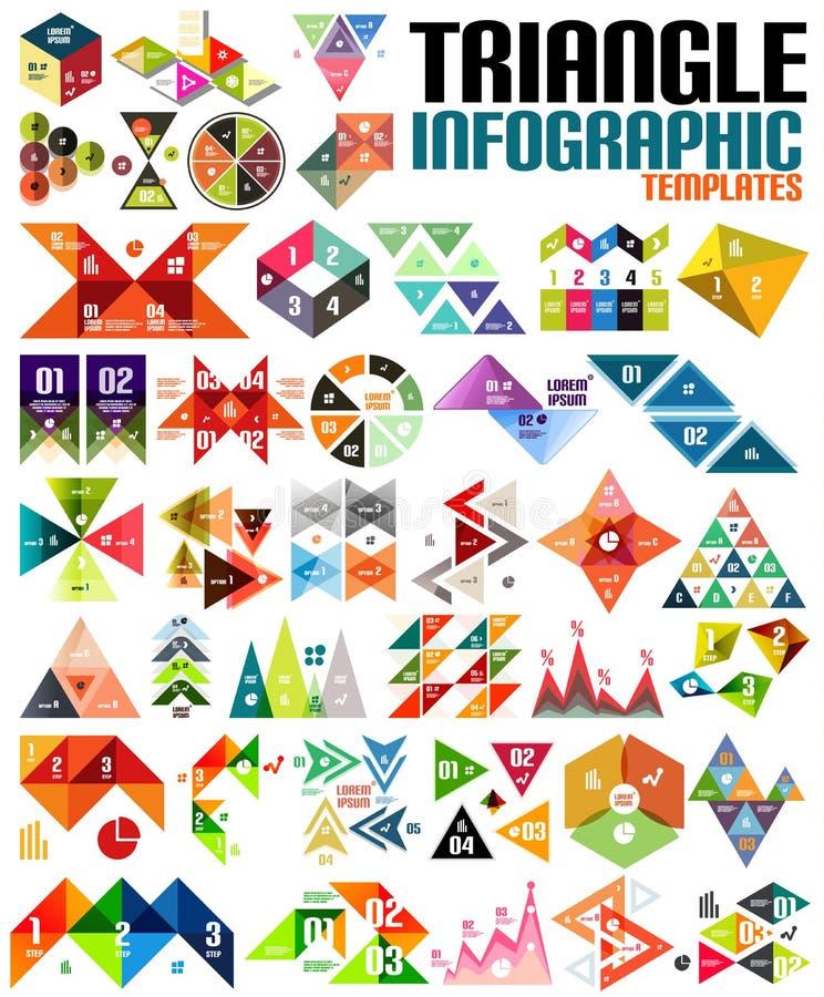 巨大的几何形状infographic模板集合 皇族释放例证