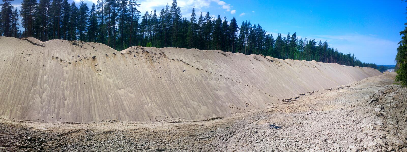 巨大的堆修路的沙子 图库摄影