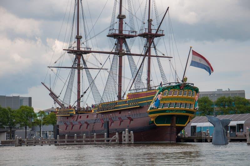 巨大的帆船阿姆斯特丹 图库摄影