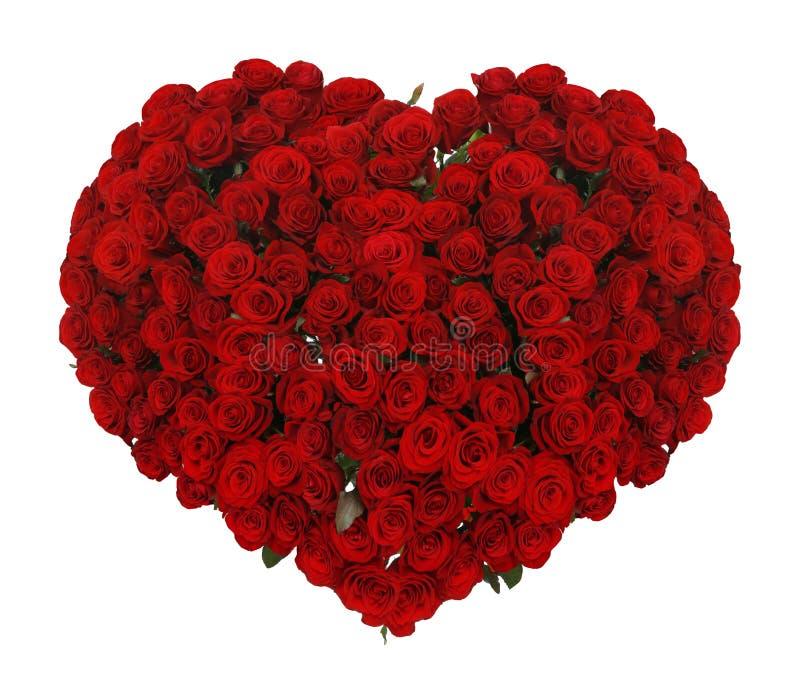 巨大的心脏由美丽的英国兰开斯特家族族徽做成 免版税库存照片