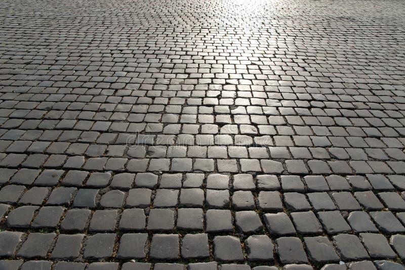 巨大的方形的老被修补的石头 免版税图库摄影