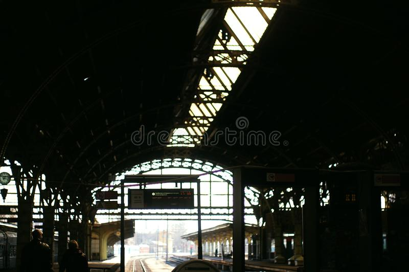 巨大的火车站 免版税库存照片
