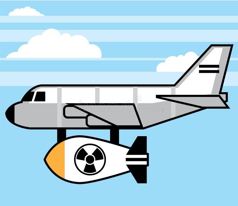 巨大的炸弹动画片 向量例证