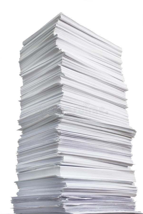 巨大的纸叠 免版税库存照片
