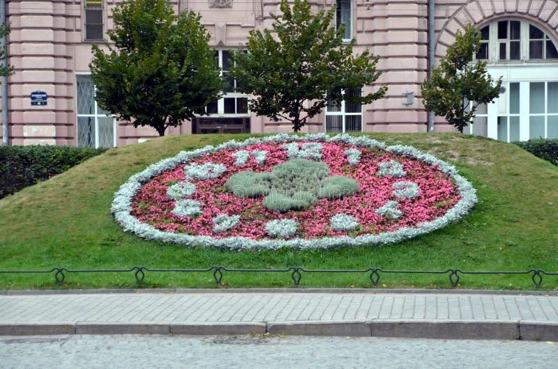 巨大的花卉时钟 图库摄影