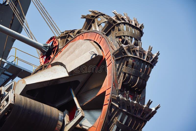 巨大的采矿机 库存照片